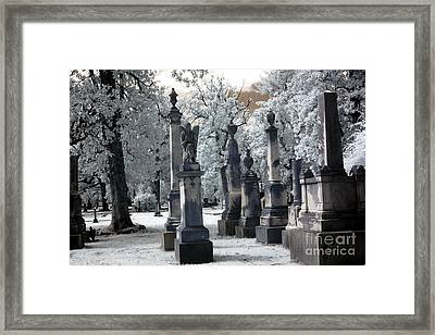 Magnolia Cemetery - Augusta Georgia - Confederate Military Graveyard  Framed Print by Kathy Fornal