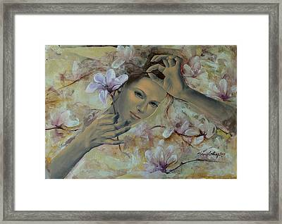 Magnolias Framed Print by Dorina  Costras