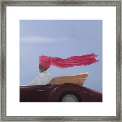 Maharajah At Speed Framed Print by Lincoln Seligman