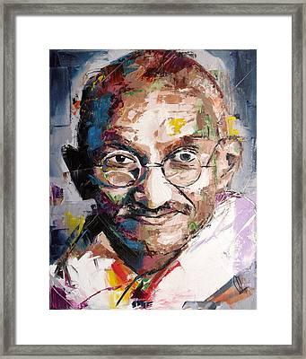 Mahatma Gandhi Framed Print by Richard Day