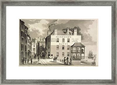 Mahomed's Baths Framed Print by British Library