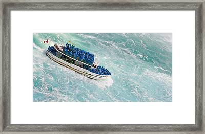 Maid Of The Mist At Niagara Falls Framed Print by Ben and Raisa Gertsberg