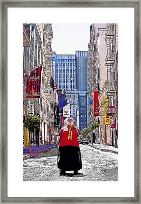 Maiden Lane Diva Framed Print by Michael Fahey