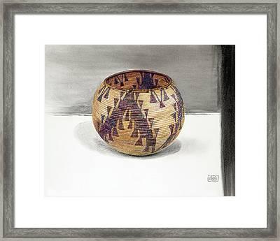 Maidu Geese Flying Basket Framed Print by Ann Miller