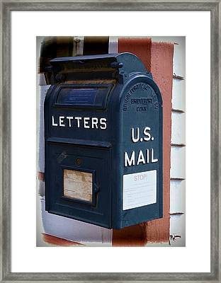 Mail Box At The Post Office Framed Print by Ken Smith