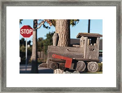 Mail Stop Framed Print by Caitlyn  Grasso