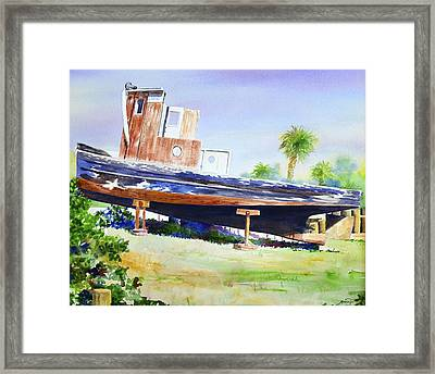 Mailboat Framed Print by AnnaJo Vahle