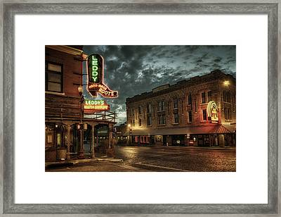 Main And Exchange Framed Print by Joan Carroll