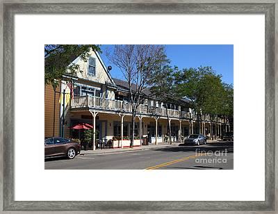 Main Street Americana Pleasanton California 5d23986 Framed Print by Wingsdomain Art and Photography