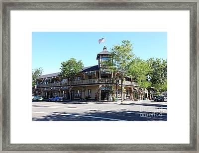 Main Street Americana Pleasanton California 5d23987 Framed Print by Wingsdomain Art and Photography