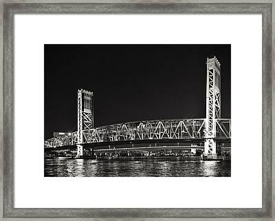 Main Street Bridge Jacksonville Florida Framed Print by Christine Till