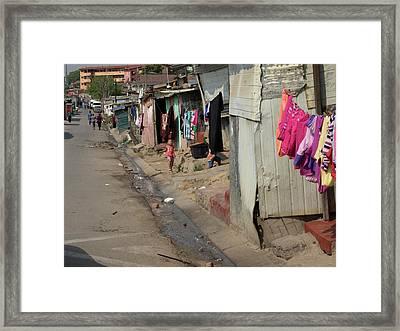 Main Street Of Alexandra, Johannesburg Framed Print by Panoramic Images