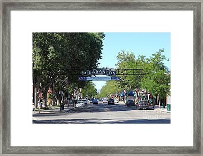 Main Street Pleasanton California 5d23979 Framed Print by Wingsdomain Art and Photography