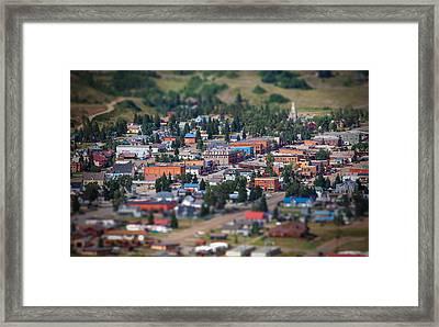 Main Street Silverton Colorado Framed Print by Darren  White