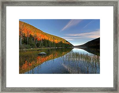 Maine Fall Foliage Glory At Bubble Pond  Framed Print by Juergen Roth
