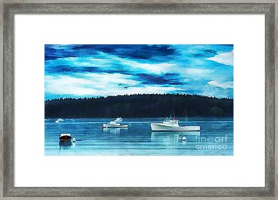 Maine Harbor Framed Print by Darren Fisher
