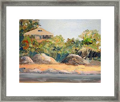 Maine Harbor House Framed Print by Tommy Thompson