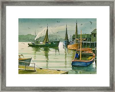 Maine Harbor Framed Print by Paul Krapf