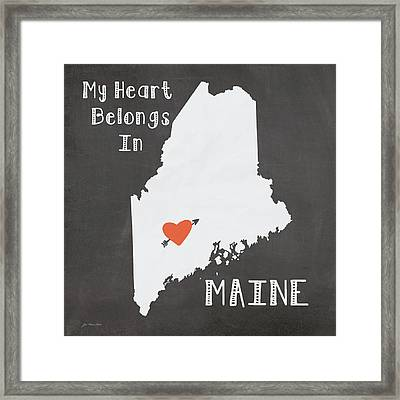 Maine Framed Print by Jo Moulton