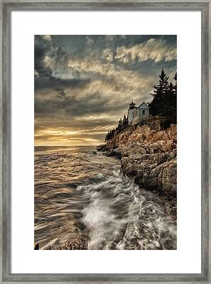 Maine Lighthouse Framed Print by Chad Tracy