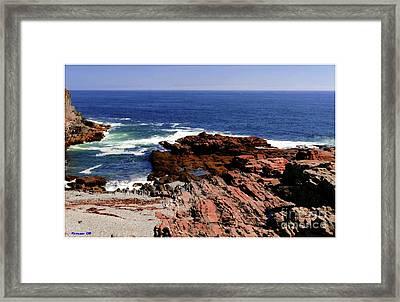 Maine Seascape Framed Print by Kathleen Struckle