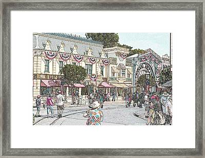 Mainstreet Anytown Usa Framed Print by Jeff Kemper