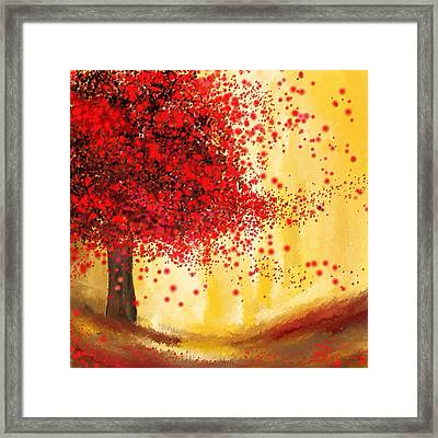 Majestic Autumn - Impressionist Painting Framed Print by Lourry Legarde