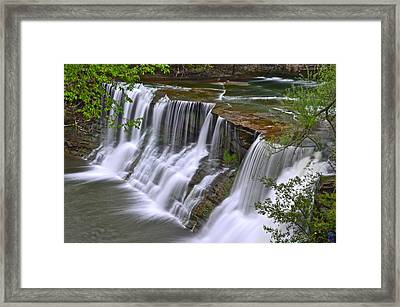 Majestic Falls Framed Print by Frozen in Time Fine Art Photography