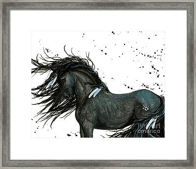 Majestic Friesian Horse 112 Framed Print by AmyLyn Bihrle