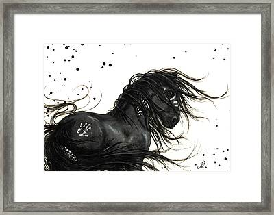 Majestic Friesian 48 Framed Print by AmyLyn Bihrle