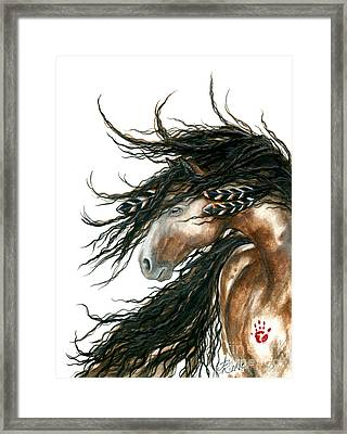 Majestic Pinto Horse 80 Framed Print by AmyLyn Bihrle