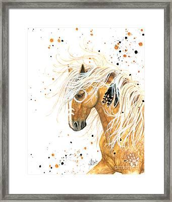 Majestic Palomino Horse 84 Framed Print by AmyLyn Bihrle