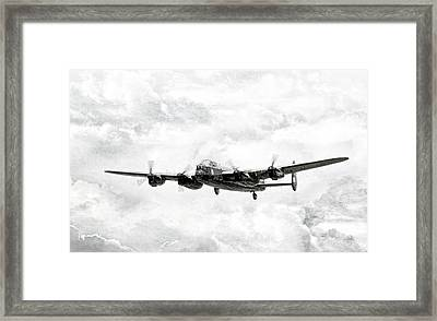 Majestic Lanc Framed Print by Peter Chilelli