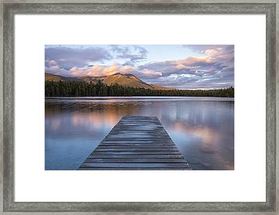 Majestic Mountain Framed Print by Patrick Downey