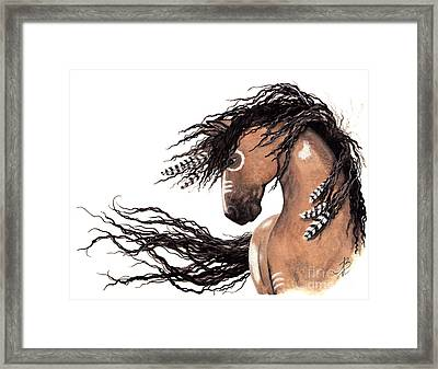 Majestic Paint Horse 43 Framed Print by AmyLyn Bihrle