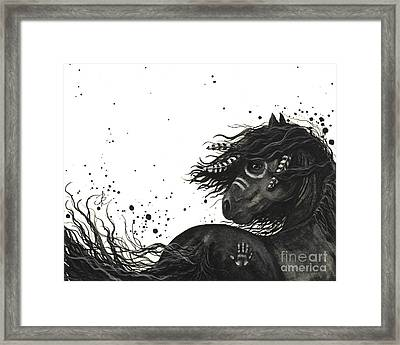 Majestic Friesian Horse 53 Framed Print by AmyLyn Bihrle