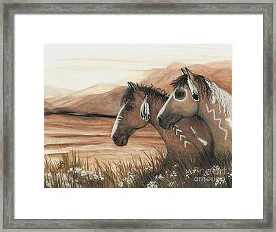 Majestic Mustang Series 42 Framed Print by AmyLyn Bihrle