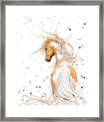 Majestic Palomino Pinto Framed Print by AmyLyn Bihrle