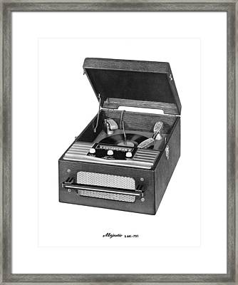 Majestic Radio And Phonograph Framed Print by Underwood Archives
