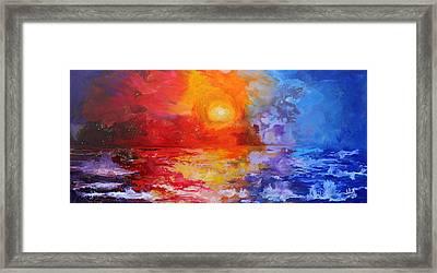 Majestic Sunset Framed Print by Julia Apostolova