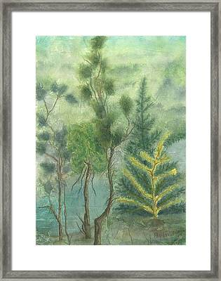 Majestic Trees Framed Print by Jeanne Hyland-Curtin