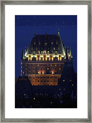 Majesty Of Chateau Frontenac In Quebec City Framed Print by Juergen Roth