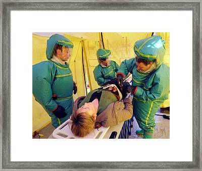 Major Emergency Decontamination Training Framed Print by Public Health England