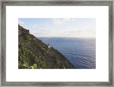 Makapuu Point Lighthouse 1 - Oahu Hawaii Framed Print by Brian Harig