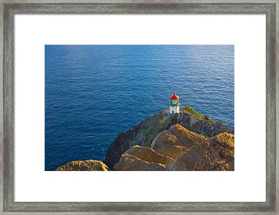 Makapuu Point Lighthouse Framed Print by Brian Harig