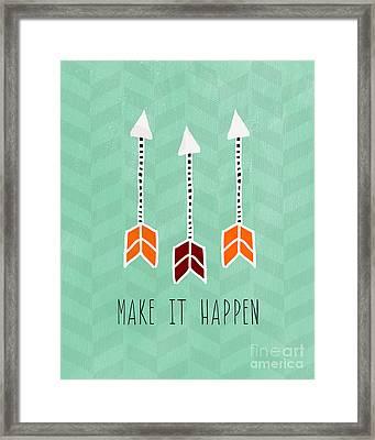 Make It Happen Framed Print by Linda Woods
