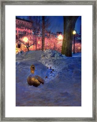 Make Way For Ducklings - Boston Public Garden Framed Print by Joann Vitali