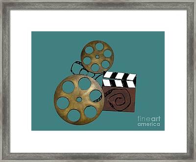 Makin Movies Framed Print by Joseph Baril