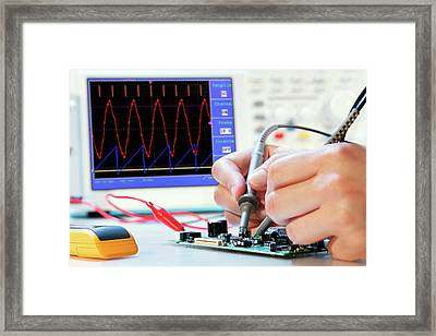 Making An Electronic Micro Processor Framed Print by Wladimir Bulgar