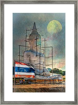 Making Buddha Framed Print by Adrian Evans